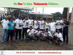 Team Aarohi Running in Support of Thalassemia