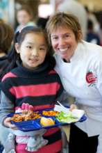 Chef Ann w/Student at Lunch