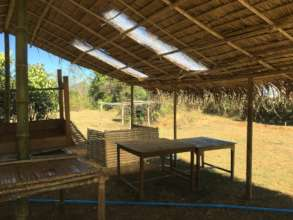Our new bamboo kitchen at the farm.