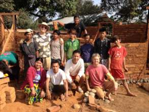 Mud brick classroom in Myitkyina, Kachin State