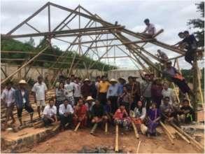 Bamboo construction training in Buddhist Monastery