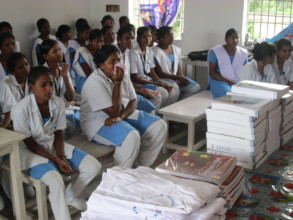 distributed books and note books.