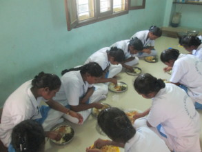Food provided for the girls