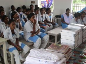 Books and Uniforms distributing