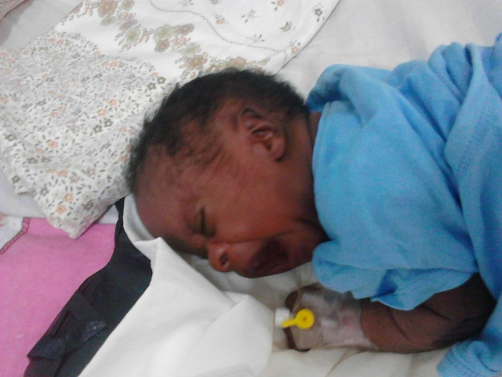 Help treat I'll baby in Uganda