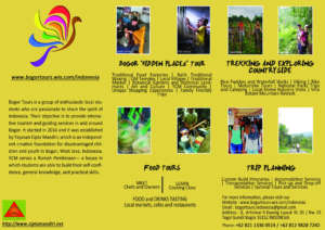 Bogor Tours and Graphic Design team made the flyer