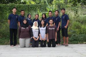 Bunga with her team 2018