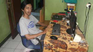 Fajrin in his station at YCM recently