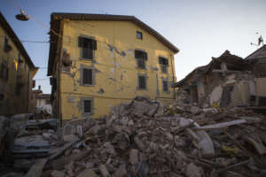 Houses in Amatrice after the earthquake, Aug 2016
