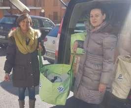 Antonella (left) with IsraAID staff