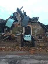 House still in ruins, October 2017