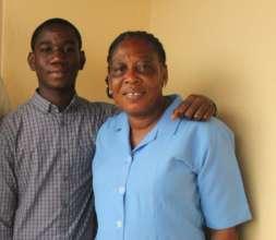 Olivette with her son, Hazel