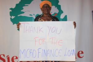 Mabinty is thankful for the microfinance loan
