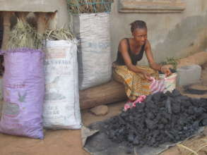 young lady retailing coal