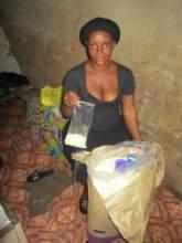 she show us the plastic bag