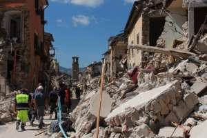 The destruction in the wake of the earthquake