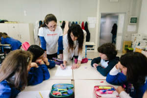 ActionAid working in a school in Camerino