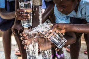 Ngongane girls taste clean water