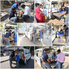 On the spot treatment to stray animals