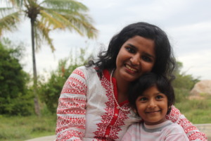 Shilpa with one of our newest students!