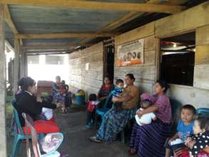 Women wait at a screening clinic