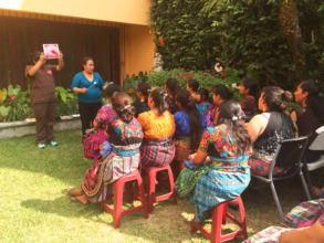 Educational talk before cervical cancer screening