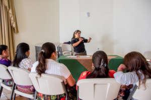 Nurse Senayda explains how the screening is done