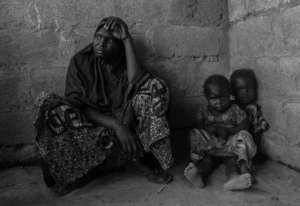 IDP mom and children in Abuja await ICEHA food