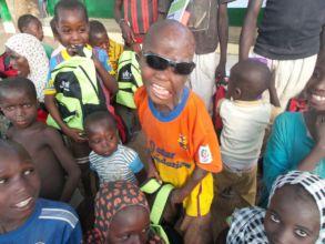 Sani & other child survivors in northern Nigeria