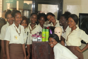 G21 Students with their new supplies