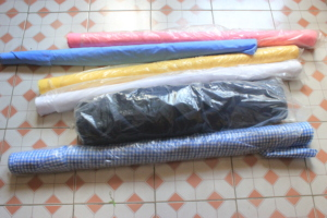 Fabric purchased with funds