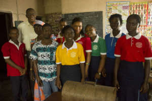 Sylvester with Vocational Students and Staff