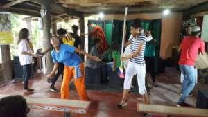V2 performing at Diaspora Solidaria a local NGO