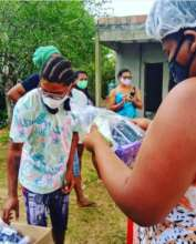 Emergency kits in the Cordoaria Quilombo