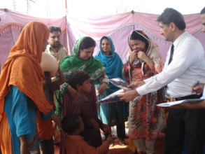 family receive dry ration & clothes