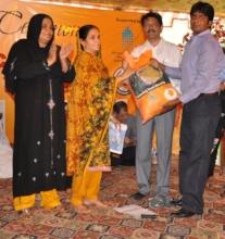 Food package disbursed to poor familiy
