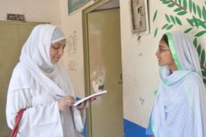 Director Tabinda interview students