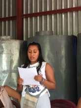 Damari, reading her commitment letter