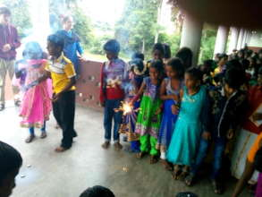 children with crackers