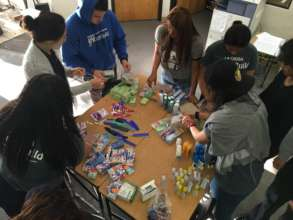 Creating care packages for homeless families