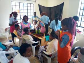 Teenage Mothers in Hairdressing Class