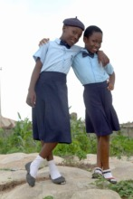 Scholarship recipients embracing their achievement