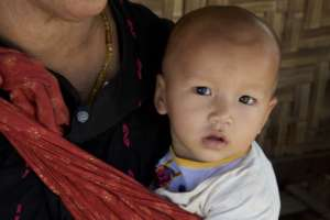Mother in Myanmar