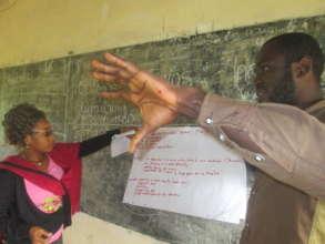Participant explaining his business idea