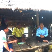 CRDT staff visiting Mr. Sameuron's home