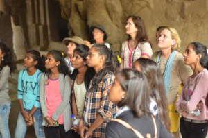 Young Women at Elephanta Caves