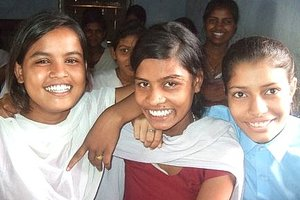 Girls at Dhobi School