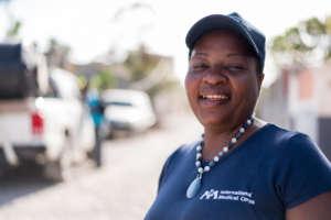 Christine, a nurse treating cholera in Haiti