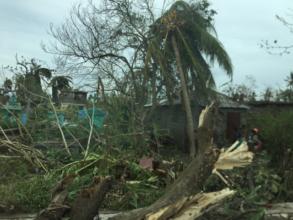 Damage in Les Cayes, Haiti