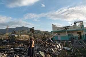 Destruction caused by Hurricane Matthew